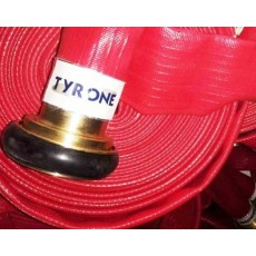 Rubber Fire Hose With Brass Machino Coupling - TYRONE 16 Bar
