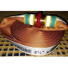 NEW 2021!! Reflective Polyester Fire Hose With Coupling and Sleeve TYRONE 24 Bar
