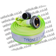 Polyester Fire Hose With Coupling - TYRONE 16 Bar